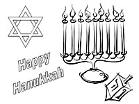 chanukah story coloring pages | Free Printable Coloring Pages for Children