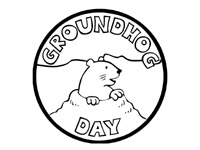 free printable coloring pages for children - Groundhog Coloring Pages Print