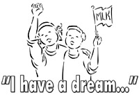words and images celebrating dr martin luther king jr - Martin Luther King Jr Coloring Pages
