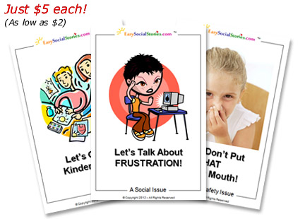 Instantly download printable  Easy Social Stories for Kids